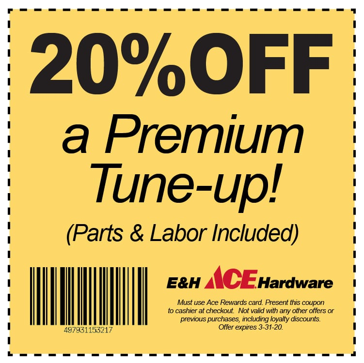 20% OFF a Premium Tune-Up